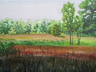 Prairie Grass Field Art Print by Bethany Lee