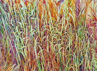 Painting - Prairie Grasses by Helen Klebesadel