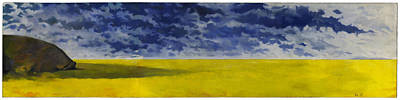 Painting - Prairie Grouper Panorama by Martin Tielli