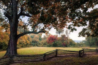 Split Rail Fence Photograph - Prairie Grove Fence Line by James Barber