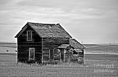 Photograph - Prairie Home Monochrome by Chalet Roome-Rigdon