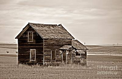 Photograph - Prairie Home Sepia by Chalet Roome-Rigdon