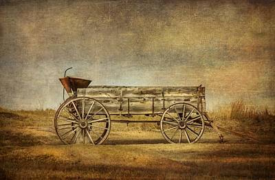 Photograph - Prairie Homestead Wagon by Ray Van Gundy