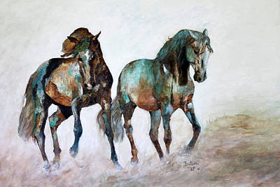 Painting - Prairie Horse Dance by Barbie Batson