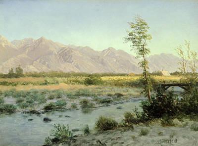 Prairie Landscape Art Print by Albert Bierstadt