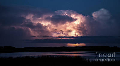Photograph - Prairie Lightning Storm by Bob Christopher