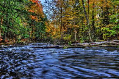 Photograph - Prairie River Blue Reflection by Dale Kauzlaric