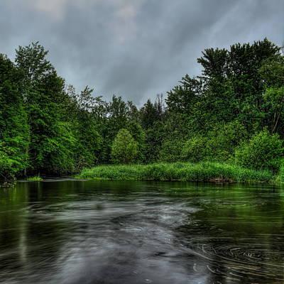 Photograph - Prairie River Eddies by Dale Kauzlaric