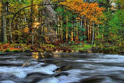 Photograph - Prairie River Golden Sunburst by Dale Kauzlaric