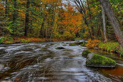 Photograph - Prairie River Long Fall Flow by Dale Kauzlaric