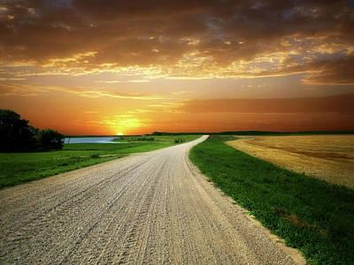 Photograph - Prairie Road 10 by William Tanata
