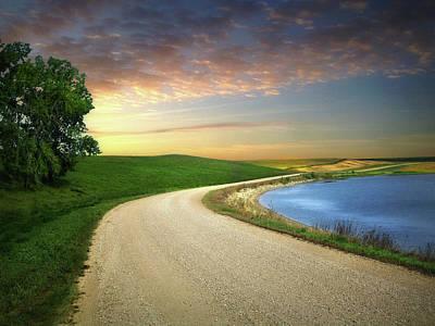 Photograph - Prairie Road 9 by William Tanata