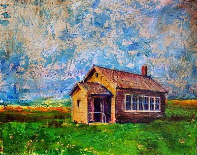 Prairie Schoolhouse Art Print by Tanya Nevin