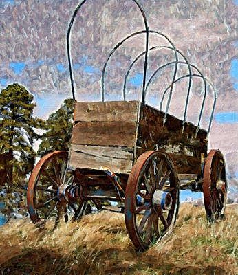 Historic Schooner Digital Art - Prairie Schooner by Jim Thomas