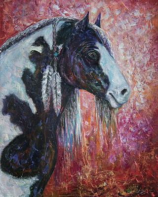 Western Pleasure Horse Painting - Prairie Spirit  by Lena  Owens OLena Art