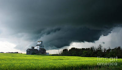 Photograph - Prairie Storm by Bob Christopher
