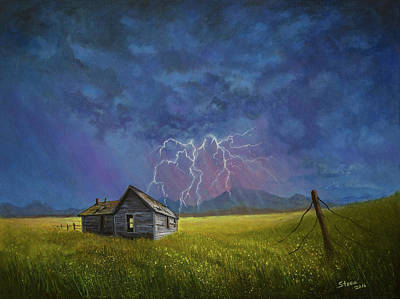 Steele Painting - Prairie Storm by Chris Steele