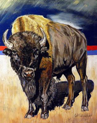 Prairie Storm Coming  Art Print by Cat Culpepper