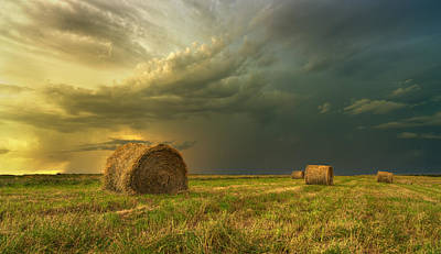 Prairie Storms Art Print by Stuart Deacon