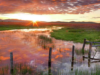 Photograph - Prairie Sunrise by Leland D Howard