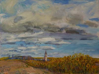 Painting - Prairie Town by Helen Campbell