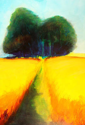 Painting - Prairie Tree 2 Abstract Landscape by Nancy Merkle