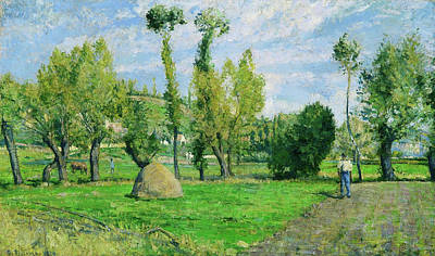 Pissarro Painting - Prairie Valhermeil Near Pontoise by Camille Pissarro