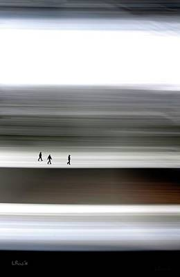 Abstract Wall Art - Digital Art - Prairie Walkers by Bill Linn