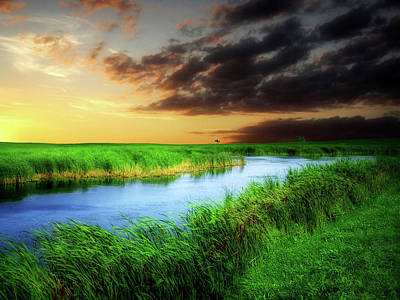 Photograph - Prairie Waters 2 by William Tanata