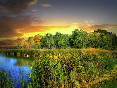 Photograph - Prairie Waters 9 by William Tanata