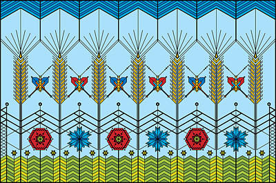 Prairie Wheat Art Print by Vlasta Smola