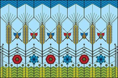 Cornfield Digital Art - Prairie Wheat by Vlasta Smola