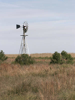 Photograph - Prairie Windmill by Charles McKelroy