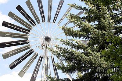 Photograph - Prairie Windmill by Wilko Van de Kamp