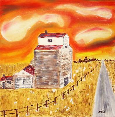 Prairie Sunset Painting - Prairies Song by James Bryron Love