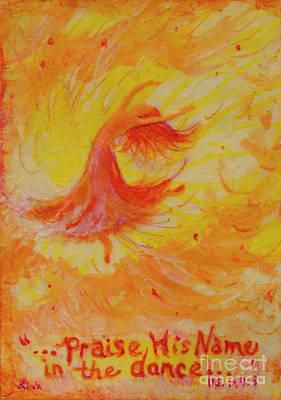 Wall Art - Painting - Praise Dancer by Debra Link