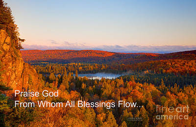 Temperance River Photograph - Praise God From Whom All Blessings Flow by Wayne Moran