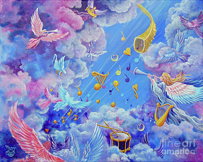 Music Painting - Praise Him From The Heavens by Nancy Cupp