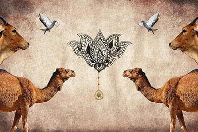 Camel Digital Art - Praise The Lord Series 4 by Sumit Mehndiratta