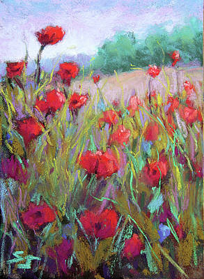 Painting - Praising Poppies by Susan Jenkins