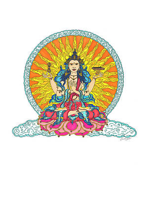 Heart Sutra Wall Art - Painting - Prajnaparamita, The Womb Of Totality by Laurel Marie Hagner
