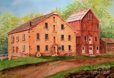 Grist Mill Painting - Prallsville Mill by Denise Harty