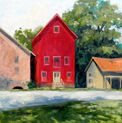 Grist Mill Painting - Prallsville Mill Summer by Kit Dalton