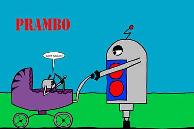 Rambo Digital Art - Prambo by Gar Cremona