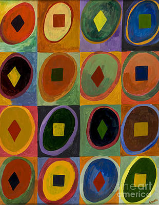 Prana Wall Art - Painting - Prana Circles by Sweta Prasad