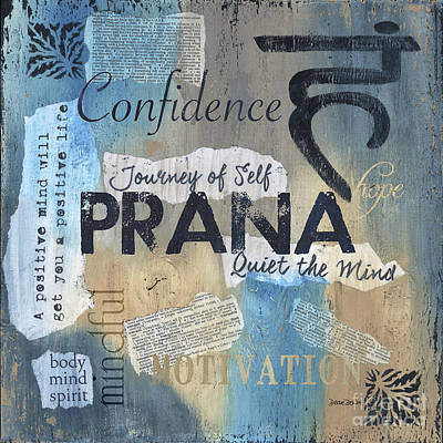 Exercise Painting - Prana by Debbie DeWitt