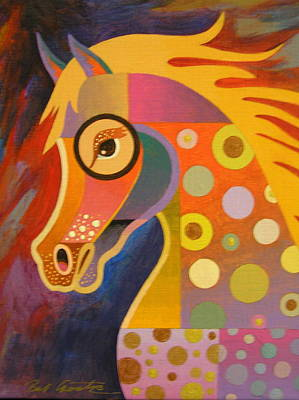 Abstract Realism Painting - Prancer by Bob Coonts