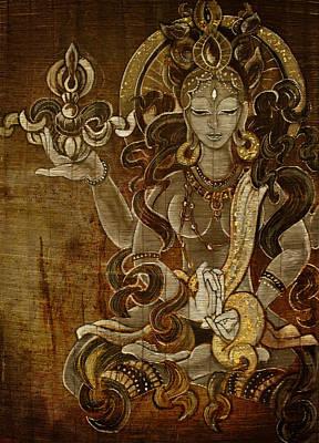 Buddhist Painting - Pranjaparamita by Theodora Nicolescu