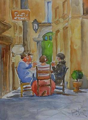 Painting - Pranzo Al Fresco by Janet Butler