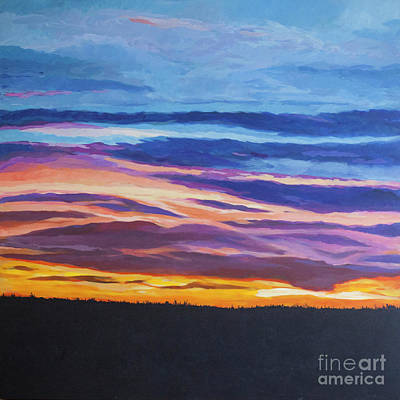 Painting - Prarie Elf Sunset by Brian M White